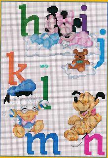 baby disney abc cross stitch