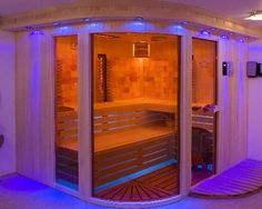 home sauna | Home sauna Tiny Homes, Dream Homes, Finnish Sauna, Spa, Steam Room, Steam Showers, Saunas, Holistic Healing, At Home Gym