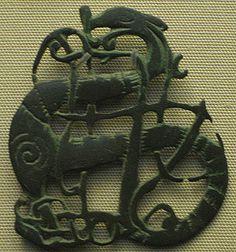 Dragon Brooch in the Urnes style, 11th century. Found near the village of Kiaby, Skåne, Sweden