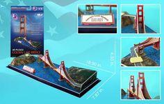 Golden Gate Bridge Landmarks 3D Puzzle