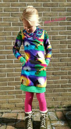 Vivax dress from Sofilantjes. Size 134 length, 116 width. Made by Bibbidi Bobbidi