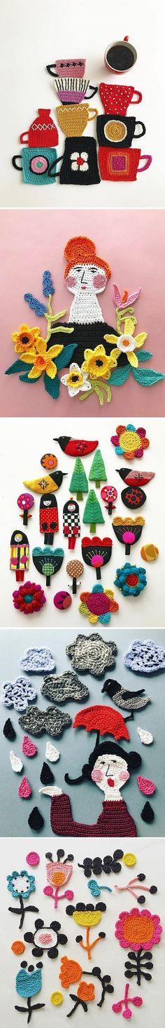 Crochet Illustration by Tuija Heikkinen