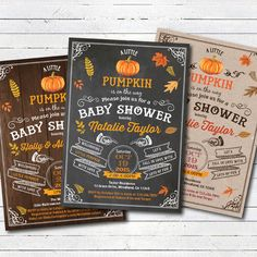 Pumpkin baby shower invitation. Retro fall thanksgiving couple baby shower invitation. Retro vintage little pumpkin on the way invite. TX021 by CrazyLime on Etsy https://www.etsy.com/listing/475126221/pumpkin-baby-shower-invitation-retro