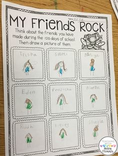 My Friends Rock Page for 120th Day of School