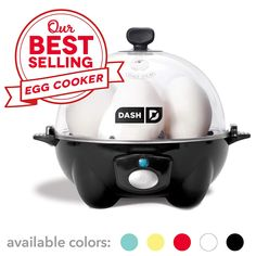 Dash Rapid Egg Cooker: 6 Egg Capacity Electric Egg Cooker for Hard Boiled Eggs, Poached Eggs, Scrambled Eggs, or Omelets with Auto Shut Off Feature – Black – Online Cooking Store Soft Boiled Eggs, Hard Boiled, Specialty Appliances, Small Appliances, Kitchen Appliances, Deviled Eggs, Scrambled Eggs, Selling Eggs, Microwave Eggs