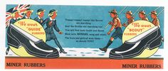 Vintage MINER RUBBERS Advertising BLOTTER-BOY SCOUTS