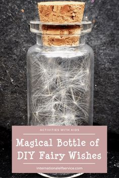 Create a magical bottle of Fairy wishes a great activity to do with kids and a lovely addition to their fairy garden. Christmas Fairy, Family Christmas, Christmas Wishes, Christmas Holidays, Christmas Crafts, Christmas Activities For Kids, Crafts For Kids, Elf Letters, Dandelion Clock