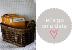 """12 preplanned, prepaid date nights. cutest wedding gift! Or a good anniversary gift.   """"The plan is to open the envelope together at the beginning of the month, look at the calendar and decide on a date.  So right from the beginning of the month, we'll have a fun date on the calendar to look forward to."""""""