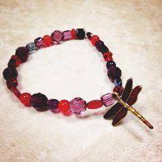 Dragonfly Charm Bracelet on Etsy, $14.00
