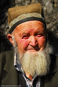 A wise elderly man, village of Arslanbob, KYRGYZSTAN