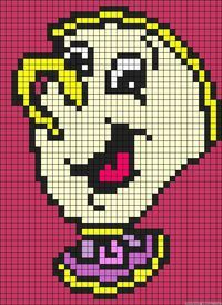 Chip Beauty and the Beast perler bead pattern @ Juxtapost.com