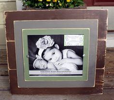 Rustic Picture Frames, 8x10 Picture Frame, Distressed Frames, Brown