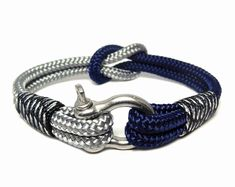 Paracord bracelet/Mens bracelet/Nautical bracelet/Sailor Bracelet/knot bracelet/Rope bracelet/Shackle Bracelet/Bracelet avec manille