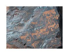 Многофигурная композиция: люди, олени, козлы (сакская эпоха, Ешкиольмес)