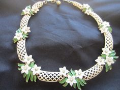 Vintage necklace / chocker  Trifari 1960's off by pillowtalkswf