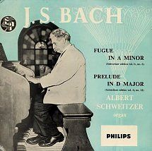 45cat - Albert Schweitzer - J.S.Bach - Philips - UK