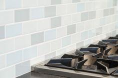 Blue backsplash, cool color palette, kitchen | Wallingford Family Kitchen by Model Remodel, Seattle, WA
