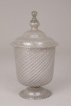 Jar with cover, 16th century, Murano (Venice), Italy
