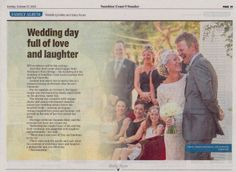 Sunshine Coast Daily Wedding Belles  by  www.suzanneriley.com.au Suzanne Riley Marriage Celebrant Sunshine Coast