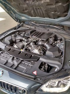 What a beautiful twin-turbo V-8! BMW M6 Gran Coupe