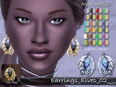 Sims 4 CC's - The Best: Earrings by Taty86