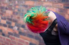 The ultimate how-to guide for home-dying a rainbow mohawk