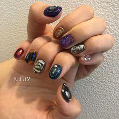 Nail Salon RelumさんはInstagramを利用しています:「ありがとうございます☺️💕 @relum_misato お任せネイル #nail#nails#nailart#gelnails#naildesign#fashion#relum#ネイル#ネイルアート#ニュアンスネイル#リルム#恵比寿#恵比寿ネイルサロン#恵比寿ネイル…」 Luv Nails, Fancy Nails, Blue Nail Polish, Japanese Nail Art, Paws And Claws, Nail Art Hacks, War Paint, Nail Arts, Nail Inspo