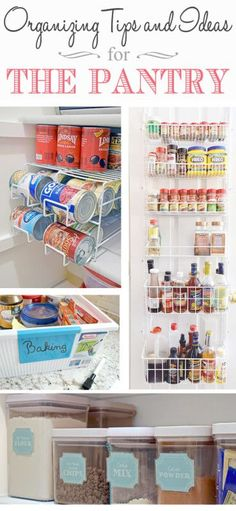 Small Pantry Organization Tips and Ideas Organizing Tips and Ideas for the Pantry- particularly a small pantry, this is a pantry makeover she did with some ideas for maximizing food storage Organisation Hacks, Small Pantry Organization, Pantry Storage, Pantry Ideas, Closet Ideas, Kitchen Storage, Food Storage, Small Storage, Storage Ideas