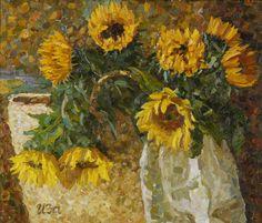 Irina iza sunflowers