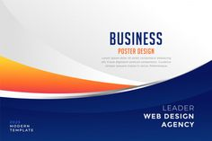 Modern blue and orange business presenta... | Free Vector #Freepik #freevector
