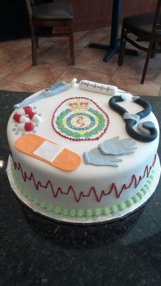 EMT grooms cake