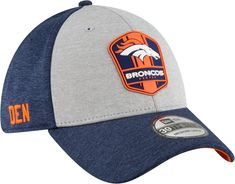 feb1917aa4b New Era Men s Denver Broncos Sideline Road 39Thirty Stretch Fit Hat