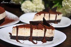 Cheesecake cu ciocolata alba Vanilla Cake, Tiramisu, Oreo, Cheesecake, Ethnic Recipes, Desserts, Mai, Food, Sweets