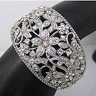 Elegant Bracelet Bangle Cuff W swarovski crystal B284 - B284, Bangle, bracelet, Crystal, Cuff, Elegant, Swarovski - http://designerjewelrygalleria.com/designer-jewelry-galleria/elegant-bracelet-bangle-cuff-w-swarovski-crystal-b284/