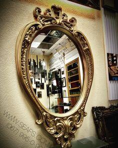 Серийное зеркало Lot 177g. Размер: 1230х750 мм. Рама: натуральный гипс. Цвет: античное золото. Заполнение: зеркало слегка пристроенное.  468$. www.seaps.com.ua (067) 995-0-996