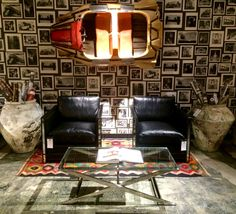 The mother ship has landed! Come by our Houston showroom to check out our newest obsession. Shown: Vintage spaceship. Walter arm chairs. Soho coffee table. Thailand large pottery jar. Andrew Martin Interior Design Review book volume 16. Studio wallpaper- charcoal. #spaceship #nasa #andrewmartin #interiordesign #decor #houston #accessories