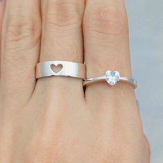 Wave Matching Rings For Couples, Promise Rings, His And Hers Wedding Bands Silver, Couples Ring Set, Personalized Custom Engraved Ring Matching Promise Rings, Promise Rings For Couples, Matching Rings, Couple Rings, Couple Jewelry, Fine Jewelry, Jewellery Box, Jewellery Shops, Morganite Engagement