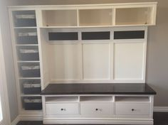 For our mudroom - http://www.ikeahackers.net/2014/09/hemnes-entryway-hack.html