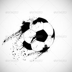 Grunge Soccer Ball by Denchik Editable EPS 10 and render in JPG format. Soccer Tattoos, Football Tattoo, Soccer Silhouette, Silhouette Design, Soccer Mom Tshirts, Volleyball Shirts, Soccer Drawing, Grunge, Softball Pictures