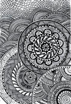 Doodle mandala by WolfsDaisy