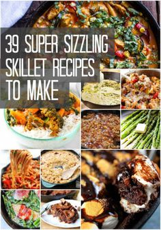 Delicious Things You Can Make In A Skillet Need a reason to put your rusty skillet to use? Consider it done.Need a reason to put your rusty skillet to use? Consider it done. Cast Iron Skillet Cooking, Iron Skillet Recipes, Cast Iron Recipes, Skillet Dinners, Cooking Recipes, Healthy Recipes, Cooking Tips, Oven Recipes, Milk Recipes