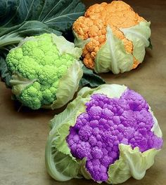 i want to grow! Love the all the colors of cauliflower.