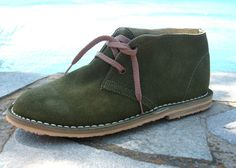 Handmade suede Desert Boots olive green by BlueDrop on Etsy, $85.00