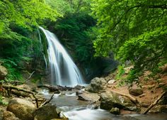 Pretty waterfall view