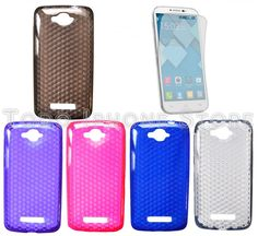 2 PROTECTOR + 1 FUNDA CARCASA SILICONA GEL TPU DIAMANTE ALCATEL ONE TOUCH POP C7