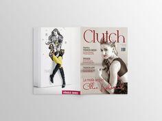 #DiseñoEditorial Proyecto: Revista Clutch Portada y contraportada de revista de moda juvenil. By: Sandra Trujillo Magazine, Books, Magazine Cover Design, Stationary Printable, Letters, Journals, Cover Pages, Libros, Book