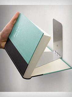 New Umbra Conceal Book Shelf Wall Floating Holder Large Invisible Bookshelf Home Creative Bookshelves, Floating Bookshelves, Wall Bookshelves, Bookshelf Design, Wall Mounted Shelves, Display Shelves, Book Shelves, Book Storage, Storage Organization