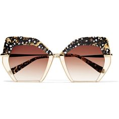 4b1748483a8 KREWE Octavia square-frame acetate and gold-plated sunglasses