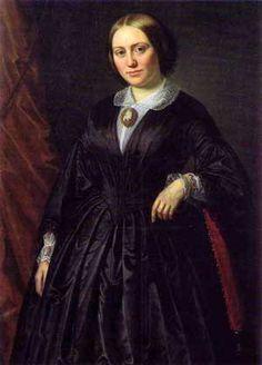 Grevinde Danner, der oprindeligt hed Louise Christine Rasmussen, blev født i 1815 og døde i 1874. Hun blev i 1850 viet til Frederik 7.s venstre hånd.- · Malet af David Monies · 1850 · Jægerspris Slot