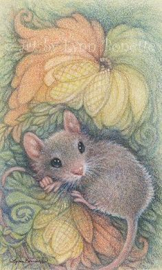 "Art by Lynn Bonnette: ""Art Deco Mouse"""